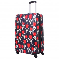 Tripp Tulip Hard 4-Wheel Large Suitcase Navy /Red