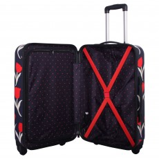 Tripp navy/red 'Tulip Hard' 4 wheel cabin suitcase