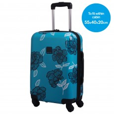 Tripp Bloom Hard 4W Cabin Suitcase Turquoise/Navy
