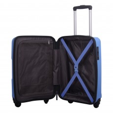 Tripp chambray 'World' 4-wheel medium suitcase