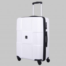 Tripp white II 'World' 4-Wheel medium suitcase