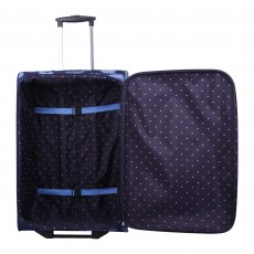 Tripp 'Daisy' navy/cornflower 2-wheel  medium suitcase