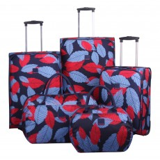 Tripp denim blue/poppy 'Leaf ' holdall