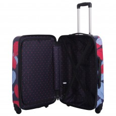Tripp denim blue/poppy 'Leaf Hard ' medium 4w suitcase