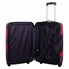 Tripp Rose/navy 'Pansy Hard' 4 wheel medium suitcase