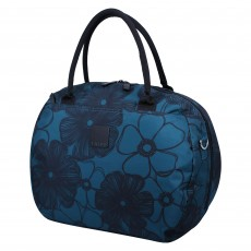 Tripp Ultramarine/Black 'Outline Pansy' Holdall
