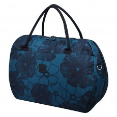 Tripp Ultramarine/Black 'Outline Pansy' Large Holdall