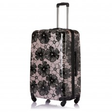 Tripp Blush/Black 'Pansy Hard' 4 Wheel Large Suitcase