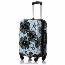 Tripp Ice Blue/Black 'Pansy Hard' 4 Wheel Cabin Case