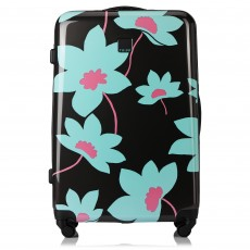 Tripp Slate/Cool Mint 'Azalea'  Large 4 Wheel Suitcase