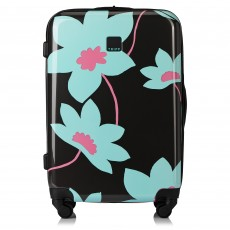 Tripp Slate/Cool Mint 'Azalea' Medium 4 Wheel Suitcase