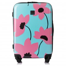 Tripp Turquoise/ Flamingo 'Azalea' Medium 4W Suitcase