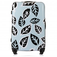 Tripp Ice Blue/Black 'Bold Leaf' Large 4 Wheel Suitcase
