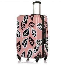 Tripp Blossom/Black 'Bold Leaf' Large 4W Suitcase