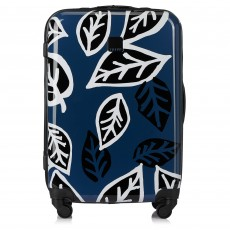 Tripp Denim/Black 'Bold Leaf' Medium 4 Wheel Suitcase