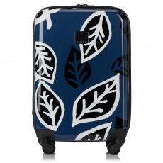 Tripp Denim/Black 'Bold Leaf' Cabin 4 Wheel Suitcase