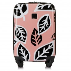 Tripp Blossom/Black 'Bold Leaf' Cabin 4 Wheel Suitcase