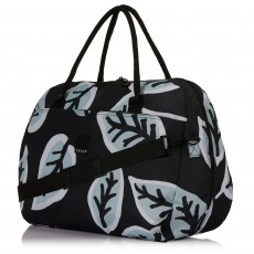 Tripp Ice Blue/Black 'Bold Leaf' Large Holdall