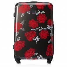 Tripp Slate/Watermelon 'Bloom' Large 4 Wheel Suitcase