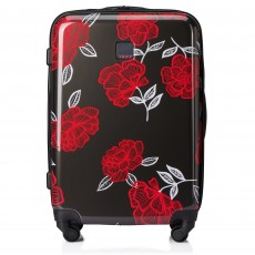 Tripp Slate/Watermelon 'Bloom' Medium 4 Wheel Suitcase
