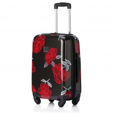 Tripp Slate/Watermelon 'Bloom' Cabin 4 Wheel Suitcase