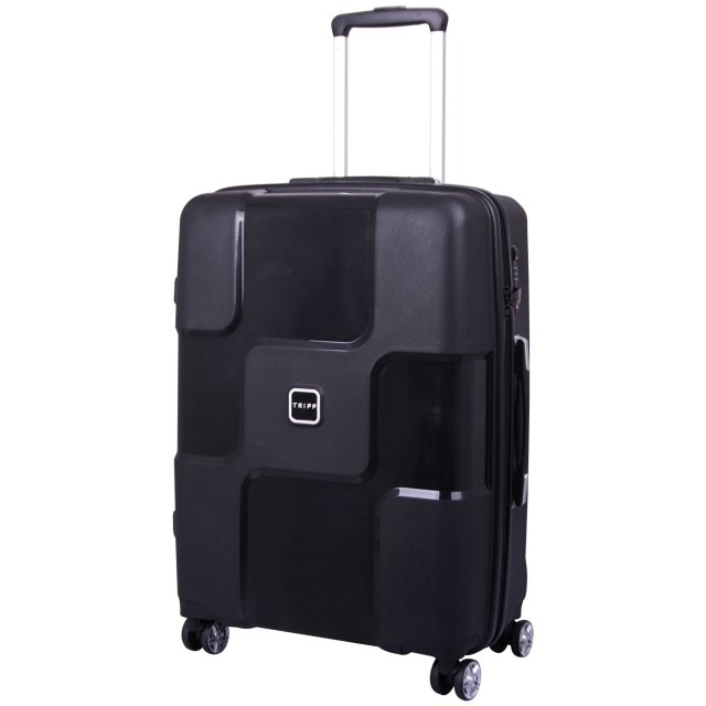 World Medium 4 wheel Suitcase 65cm BLACK