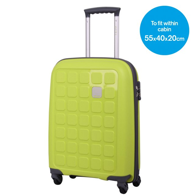 Holiday 5 Cabin 4 wheel Suitcase 55cm LIME