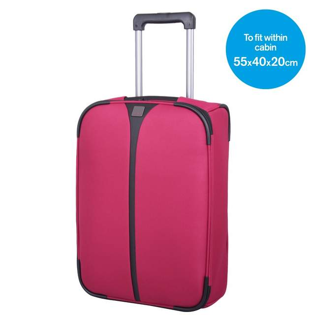Superlite III Cabin 2 wheel Suitcase 54cm RUBY
