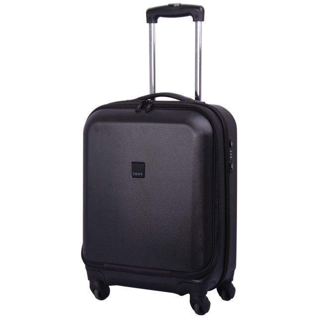 Tripp black 'Lite' 4 wheel dual access cabin suitcase - Hard ...