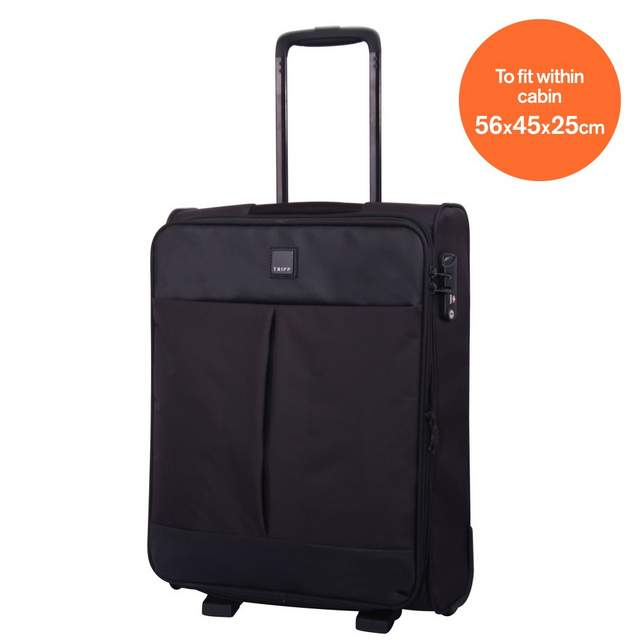 tripp black black 39 style lite 39 2 wheel cabin suitcase. Black Bedroom Furniture Sets. Home Design Ideas