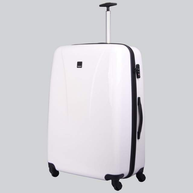 Chic Large 4 wheel Suitcase 81cm WHITE GLOSS.