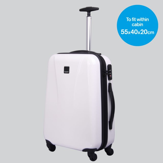 Chic Cabin 4 wheel Suitcase 55cm WHITE GLOSS.