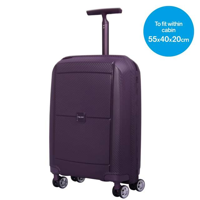 Superlock Cabin 4 wheel Suitcase 55cm PLUM