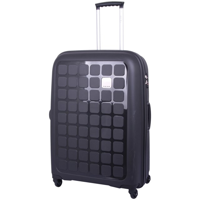 Tripp black II 'Holiday 5' large 4 wheel suitcase - Hard Suitcases ...