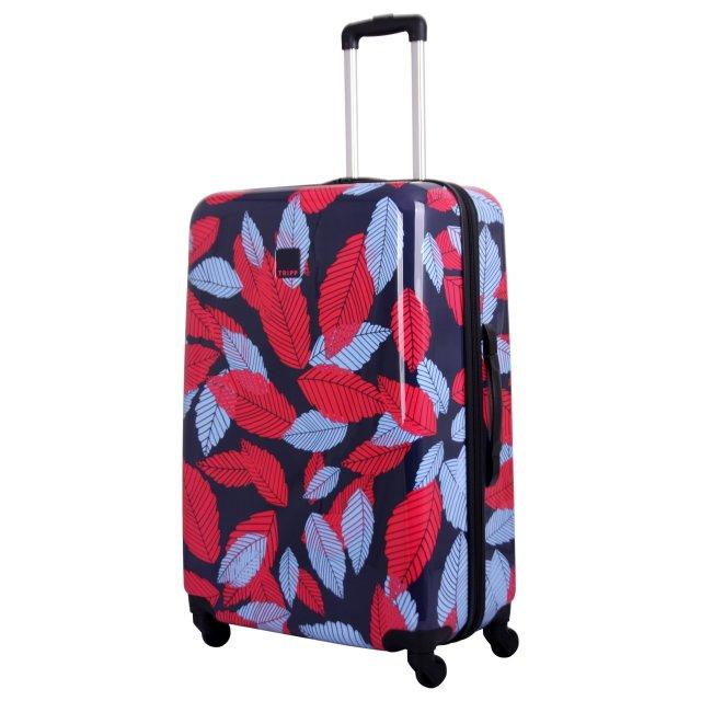 Tripp Denim Blue Poppy Leaf Hard Large 4w Suitcase Hard Suitcases Tripp Ltd