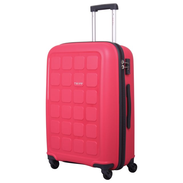 Holiday 6 Medium 4 wheel Suitcase 65cm RASPBERRY
