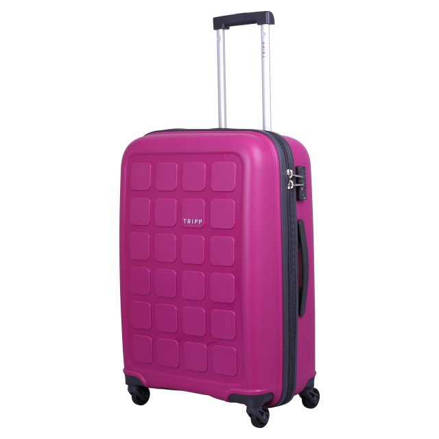 Holiday 6 Medium 4 wheel Suitcase 65cm CERISE.
