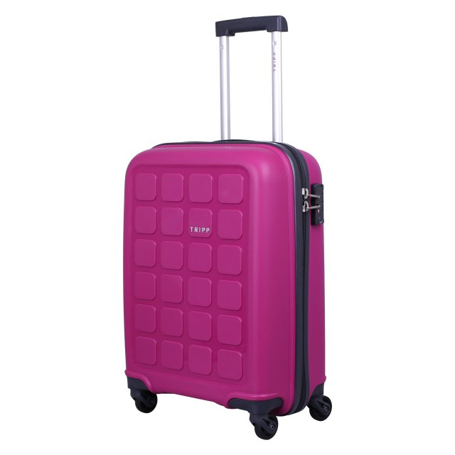 Holiday 6 Cabin 4 wheel Suitcase 55cm CERISE.