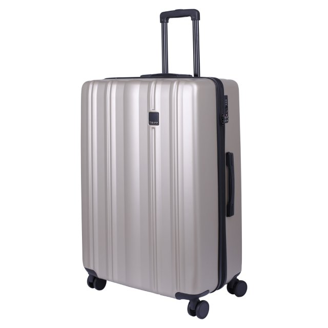 Retro Large 4 wheel Suitcase 81cm CHAMPAGNE