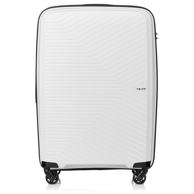 Chic Medium 4 wheel Suitcase 67cm Exp WHITE