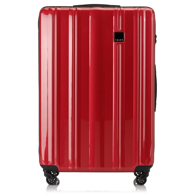 Retro Large 4 wheel Suitcase 81cm RED GLOSS