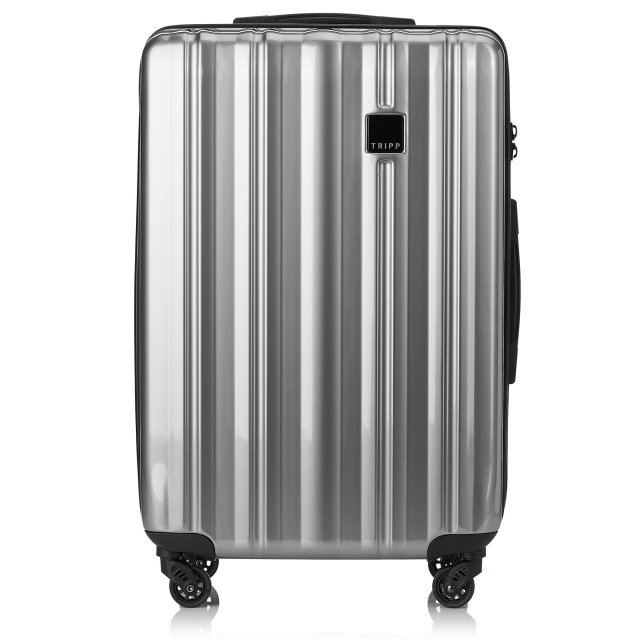 Retro Medium 4 wheel Suitcase 69cm PLATINUM GLOSS