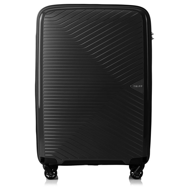 Chic Medium 4 wheel Suitcase 67cm Expandable BLACK