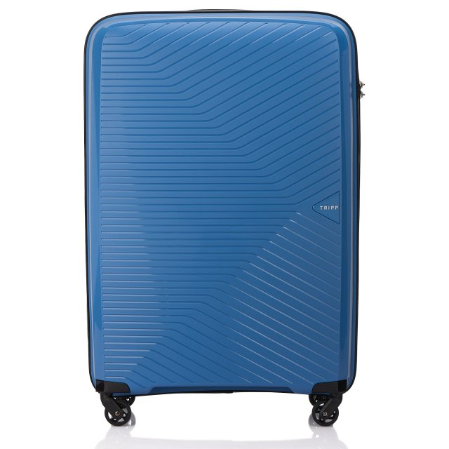 Chic Large 4 wheel Suitcase 77cm SKY BLUE