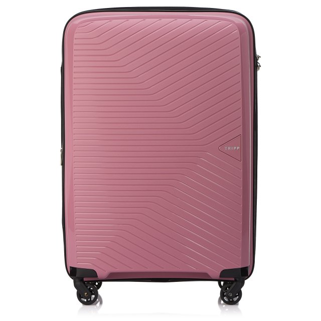 Chic Medium 4 wheel Suitcase 67cm Expandable ROSE