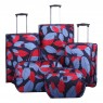 Tripp Tripp denim blue/poppy 'Leaf 'cabin 2-wheel suitcase